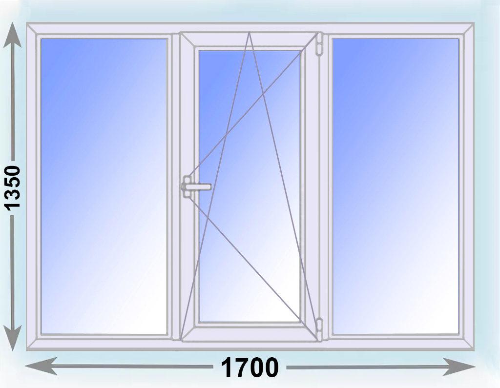 окно 1700х1350